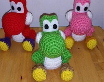 Yoshi Amigurumi Crochet Plush