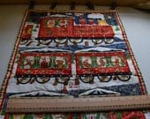 Perpetual advent calendar quilted train calendar Christmas calendarchildrens advent calendar xmas count down xmas decor