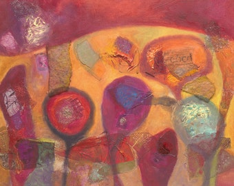 Limited Edition Giclee print of mixed media- sizes A4 and A5