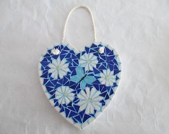 Heart hanging mosaic
