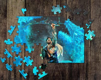 Personalized Hanzo Overwatch Jigsaw Puzzles, Custom Name Photo Puzzle, Great Gift for a Gamer! Overwatch Game Puzzles