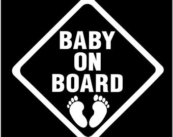 Baby on board window car sticker decal