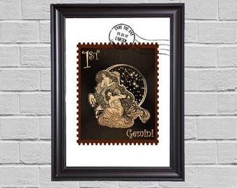 Gemini Zodiac - stamps