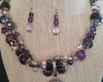 Amethyst Haze Jewelry Set