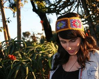Gold Crochet Headband - The Anza-Borrego Headband