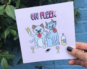"Central 23 Greeting Card ""On Fleek"""