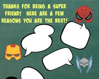 Superhero Kindness Valentine's Card