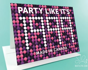 Birthday Card | Party Like It's 1999 | Customize Year and Country