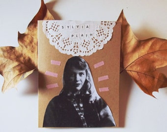 Personalized card Sylvia Plath