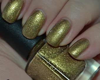 Fleur De Luxury - Gold and Black Holographic Glitter Nail Polish