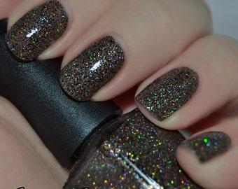 Zulu Voodoo - Black Holographic Glitter Nail Polish