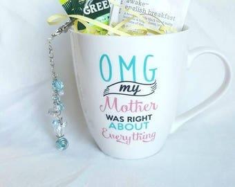 TeaChain and Large Mug Gift with 2 tea samples.