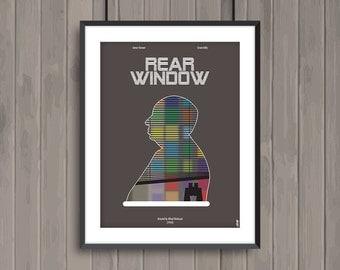 REAR WINDOW, minimalist movie poster