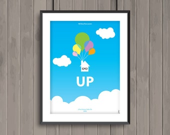 UP, minimalist movie poster