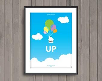 UP, minimalist movie poster