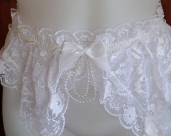 Vintage Wedding Garter belt size small Made by Shirley of Hollywood