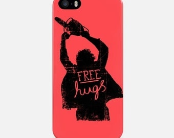 Funny iPhone Case, iPhone 6 Case Free Hugs, iPhone 7 Case, iPhone 7 Plus Case, iPhone 5 Case, Red iPhone 5C Case, Phone Cover, iPhone 4 Case