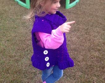 Crochet Pattern for Girl's Vest & Scarf