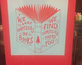 Book Decal, Reading Decal, We Lose Ourselves in Books Decal, Nook Decal, Kindle Decal, Ereader Decal