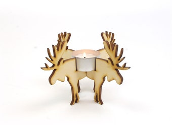 Christmas tea holder ' Moose '