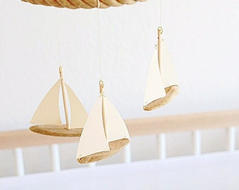 Crib Mobile || Baby mobile || Sailboat mobile || nautical || nursery decor || Owen