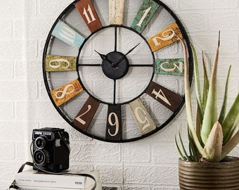 Archie metal wall clock - Industrial vintage style metal