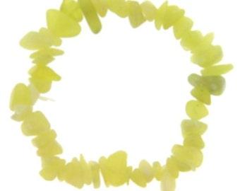Olive Serpentine Single Strand Stretch Chip Bracelet