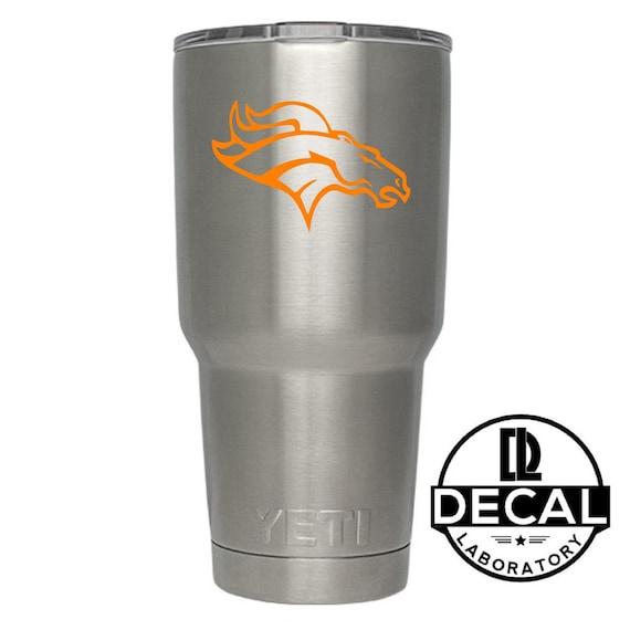 Yeti Decal Sticker - Denver Broncos Decal Sticker For Yeti RTIC Rambler Tumbler Coldster Beer Mug
