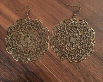 Mandala dangle earrings