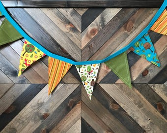Bright Woodland Pennant Banner