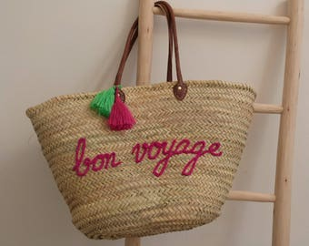 personalized french market basket,monogrammed straw bag,beach tote,moroccan basket,straw tote handbag,beach bag,french basket,natural basket