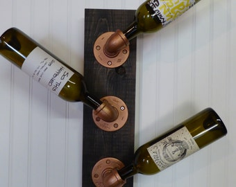 Industrial Style Wine Rack