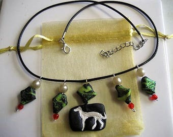 Polymer, GREYHOUND, NECKLACE, Jewellery