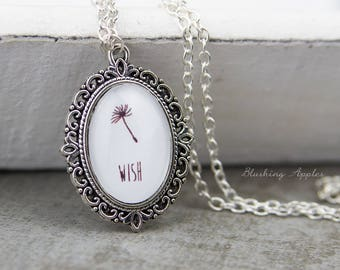 'Wish' necklace / / dandelion, lucky charm, minmalistisch