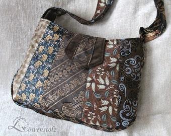 Tie bag, shoulder bag, Upcycling