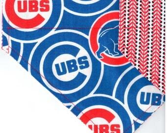 Chicago Cubs Packed Bandana | Dog Bandana | Over the Collar Dog Bandanas | Custom Dog Bandana