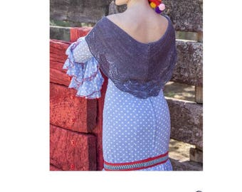 Flamenco Inspired Shawl Shawlette Collection Knitting Pattern