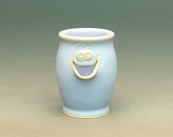 Powder Blue, Egg Separator, Ceramic Egg Separator, Pottery Egg Separator, Egg Separator, Handmade Egg Separator