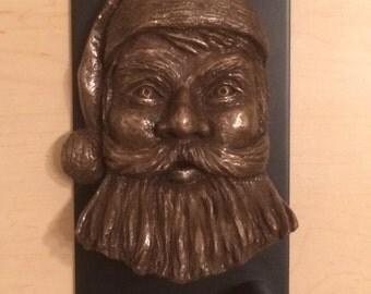 Santa Claus Fine Art Portrait for Wall, Shelf or Door Knocker