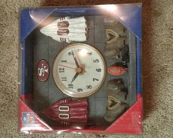 San Francisco 49er Collector Clock. 75% OFF. 6 1/4 x 6 1/4