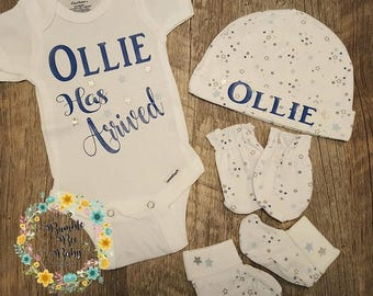 Newborn, Preemie, Twins, Baby Boy, Going Home Outfit, Star Themed, Stars, Bodysuit, Boy Baby Shower Gift