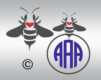 queen bee  monogram SVG Clipart Cut Files Silhouette Cameo Svg for Cricut and Vinyl File cutting Digital cuts file DXF Png Pdf Eps