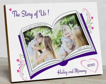 Mother's Day Picture Frame,  Happy Mother's Day  Frame, First Mother's Day Frame, Picture Frame For Mom, Personalized Mother's Day Frame