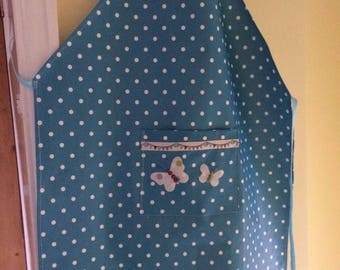 Women's Turquoise Spotty Apron