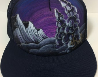Size SML hand painted cap