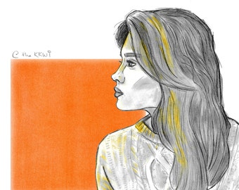 Woman in Orange (digital)