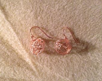 Wire orb earrings