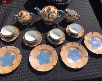 Vintage Hand Painted Japanese Tea Set