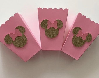 Minnie Mouse popcorn boxes