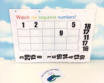 Number sequence to 20, Teaching resource, Learn numbers, EYFS, Early learning, SEN, KS1, Numeracy resource, Home school